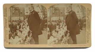 WILLIAM McKINLEY. Beloved by All the People. Stereograph Record.