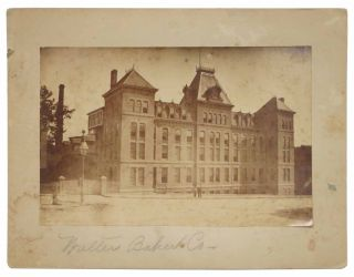 WALTER BAKER CO. Cabinet Card Albumen Photograph