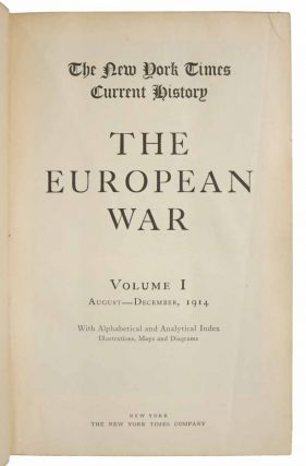 The NEW YORK TIMES CURRENT HISTORY. The European War. Salesman's Sample Book.