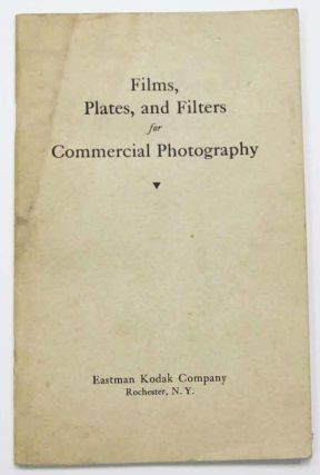 FILMS, PLATES, And FILTERS For COMMERICAL PHOTOGRAPHY. Photography Trade Catalogue.
