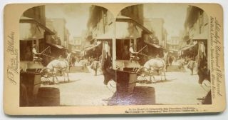 In The HEART Of CHINATOWN, San Francisco, California. San Francisco California Stereoview