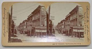 "9232 -- In ""CHINATOWN,"" San Francisco, Cal., U.S.A. San Francisco California Stereoview"