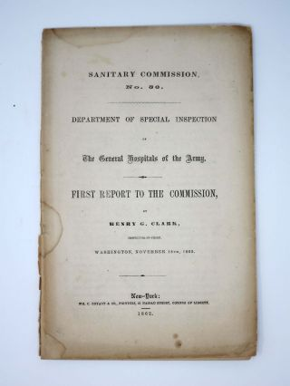 SANITARY COMMISSION No. 56. Department of Special Inspection of The General Hospitals of the...