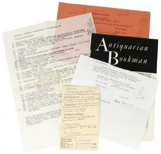 ARCHIVE From Mr. MALCOLM M. FERGUSON Of BROOKFIELD BOOKSHOP.