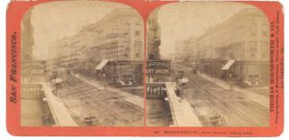 147. MONTGOMERY ST.--From Museum, looking south. San Francisco California Stereoview