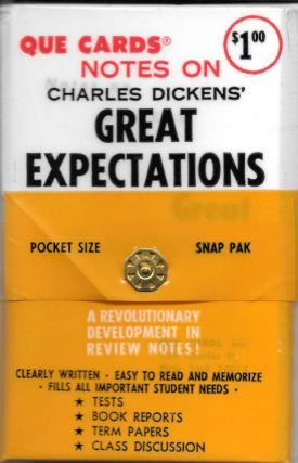 NOTES ON CHARLES DICKENS' GREAT EXPECTATIONS.; Pocket Size. Snap Pak. A Revolutionary Development...