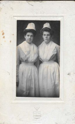 MOUNTED PORTRAIT OF TWO NURSES. Photograph - Nursing, Steven J. Scherer.