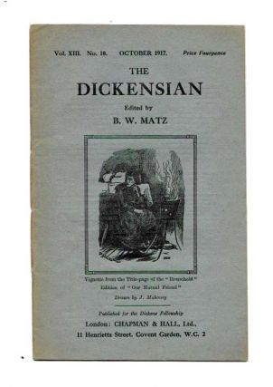 The DICKENSIAN. Vol. XIII. No. 10.; October 1917. B. W. - Matz