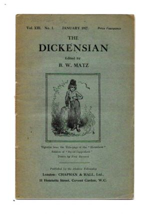 The DICKENSIAN. Vol. XIII. No. 1.; January 1917. B. W. - Matz