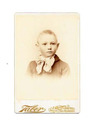 CABINET CARD PHOTOGRAPH. Isaiah West Taber, 1830 - 1912.