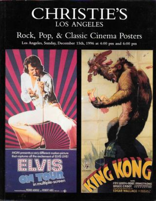 ROCK, POP, & CLASSIC CINEMA POSTERS.; Los Angeles, Sunday, December 15th, 1996 at 4:00 pm and...