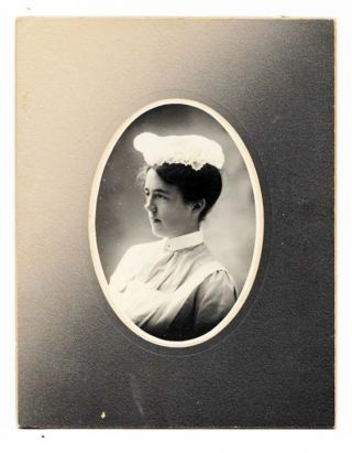 ALBUMEN PHOTOGRAPH Of A NURSE. Nursing History.