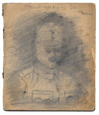 WWI HUNGARIAN SKETCHBOOK. Sketchbook.