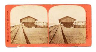 FERRY LANDING And FREIGHT SHED, OAKLAND WHARF, WESTERN PACIFIC RAILROAD.; 1484. California...