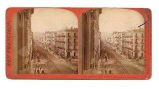 MONGOMERY STREET, LOOKING NORTH FROM CALIFORNIA.; 126. San Francisco California Stereoview