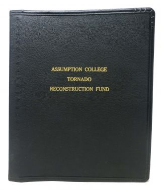 ASSUMPTION COLLEGE TORANDO RECONSTRUCTION FUND. Worcester Massachusetts Local History