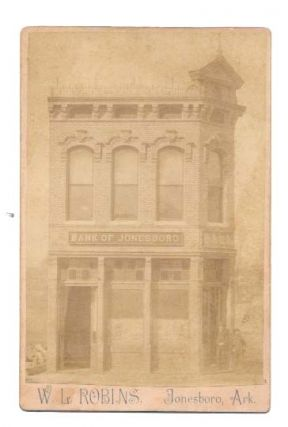 BANK Of JONESBORO. 19th C. Arkansas Photographic Trade / Cabinet Card, Judge W. H. - Bank...