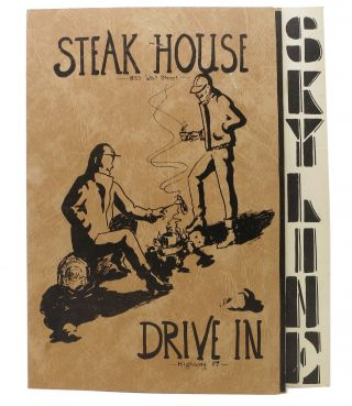 SKYLINE STEAKHOUSE.; 855 Wall Street. Oregon Restaurant Menu - Bend