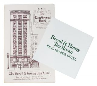 The KING GEORGE HOTEL. The BREAD And HONEY TEA ROOM. (Includes a Napkin). Restaurant Menu - San...