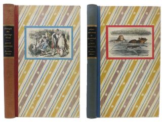ALICE'S ADVENTURES In WONDERLAND [And] THROUGH The LOOKING GLASS, And What Alice Found There. Two Volumes. Lewis Carroll.