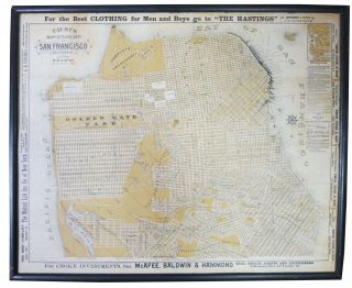 FAUST'S MAP Of CITY And COUNTY Of SAN FRANCISCO CALIFORNIA. San Francisco / California History,...