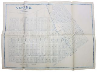 NEWARK TOWN SITE.; Scale: 300 Feet to an Inch. 19th C. San Francisco Bay Area Map