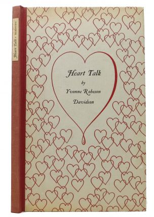 HEART TALK. Poetry / Los Angeles Fine Printing, Yvonne Robeson Davidson