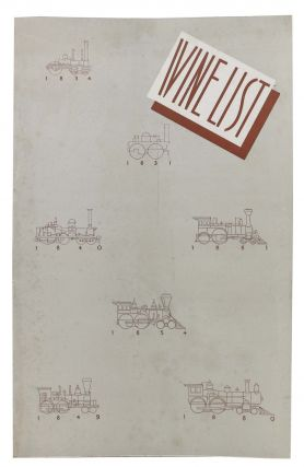 WINE LIST.; B. J. Bohlender, Manager Dining Service, New York. Beverage Menu - New York