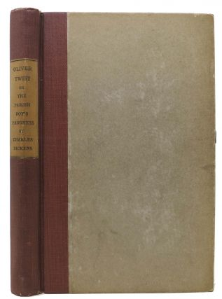 OLIVER TWIST; or, The Parish Boy's Progress. With Illustrations. Complete in One Volume. Charles Dickens, William Glyde - Former Owner 1812 - 1870. Wilkins.
