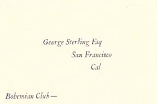 EM to GS.; A Letter from Edgar Lee Masters to fellow-poet George Sterling 5 March 1926