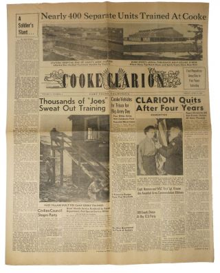 COOKE CLARION. 30 Issues, Sept. 26, 1945 - April 5th, 1946.