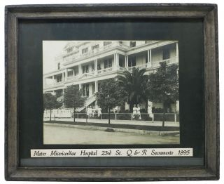 MATER MISERICORDIAE HOSPITAL. 23rd St. Q & R Sacramento 1895 [caption title]. Photograph -...