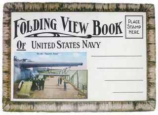 FOLDING VIEW BOOK Of UNITED STATES NAVY. World War I., E. - Image Copyright Holder Muller