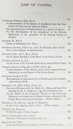 JOURNAL Of The PROCEEDINGS Of The LINNEAN SOCIETY. BOTANY. [ 'On the Existence of Two Forms, and on their reciprocal Sexual Relation, in several Species of the Genus Linum' by Charles Darwin] - as in Freeman, 1723.; Vol. VII.