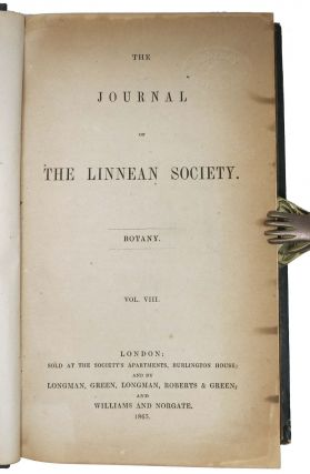 The JOURNAL Of The LINNEAN SOCIETY. BOTANY. ['On the Sexual Relations of the Three Forms of Lythrum Salicaria' - Charles Darwin] - as in Freeman, 1731.; Vol. VIII.
