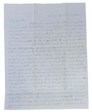 "AUTOGRAPH LETTER[S], Signed.; To her ""Very Dear Son"" [Lathrop C Keith] & ""Miss Marcy"" Winslow..."