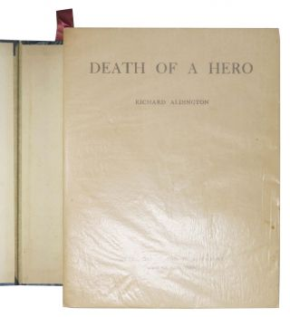 DEATH Of A HERO. A Novel.