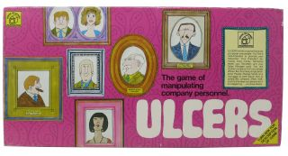 ULCERS.; The Game of Manipulating Company Personal. Board Game