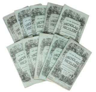 """The LIFE And ADVENTURES Of NICHOLAS NICKLEBY.; Containing a Faithful Account of the Fortunes, Misfortunes, Uprisings, Downfallings, and Complete Career of the Nickleby Family. Edited by """"Boz"""". With Illustrations. With Illustrations By """"Phiz""""."""