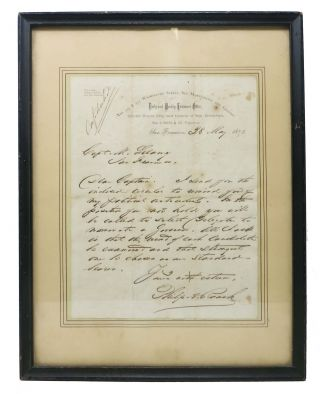 AUTOGRAPH LETTER, SIGNED [ALs], dated 28 May 1875. Philip Augustine Roach, 1820 - 1889.