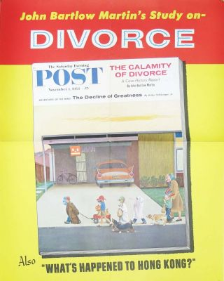 John Bartlow's Study on- DIVORCE; The Saturday Evening Post. November 1, 1958 - 15¢. Magazine...