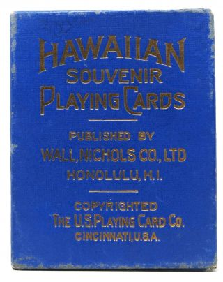 HAWAIIAN SOUVENIR PLAYING CARDS. Hawaiiana