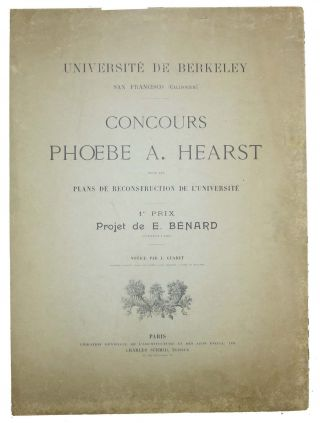 UNIVERSITE De BERKELEY, San Francisco (Californie). CONCOURS PHOEBE A. HEARST Pour Les Plans de...