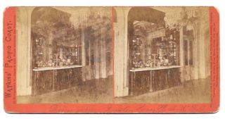 DINING ROOM RALSTON HOUSE BELMONT CAL; Watkins' Pacific Coast Series. Stereoview Photograph,...