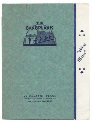 The GANGPLANK. Restaurant Menu - San Francisco