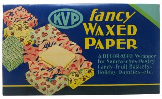 KVP FANCY WAXED PAPER. Paper Products, Uses.