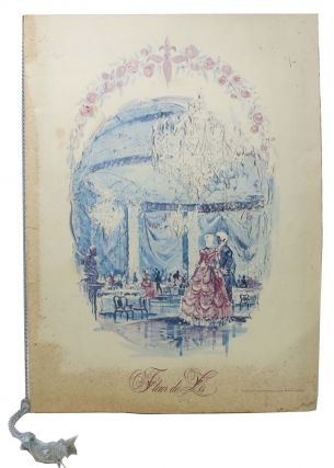 FLEUR DE LIS.; The Hotel Fontainebleau - Miami Beach, Florida. Fl. Restaurant Menu - Miami Beach.