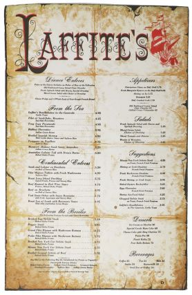 LAFFITE'S. Restaurant Menu - Louisiana