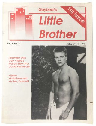 GAYBEAT'S LITTLE BROTHER. 1st Issue.; Vol. 1, No. 1. February 15, 1990. Gay Literature