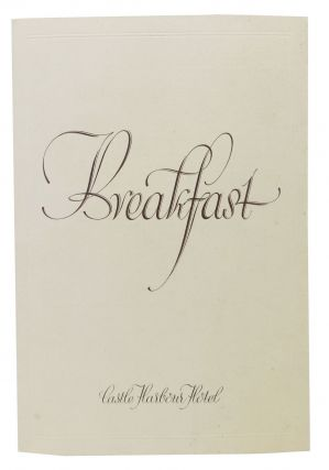 BREAKFAST.; Castle Harbor Hotel. Restaurant Menu - Bermuda